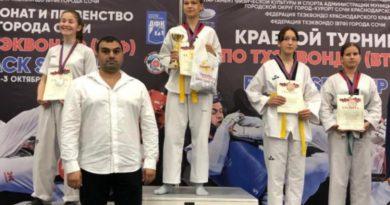 Геленджичане завоевали медали на краевом турнире по тхэквондо